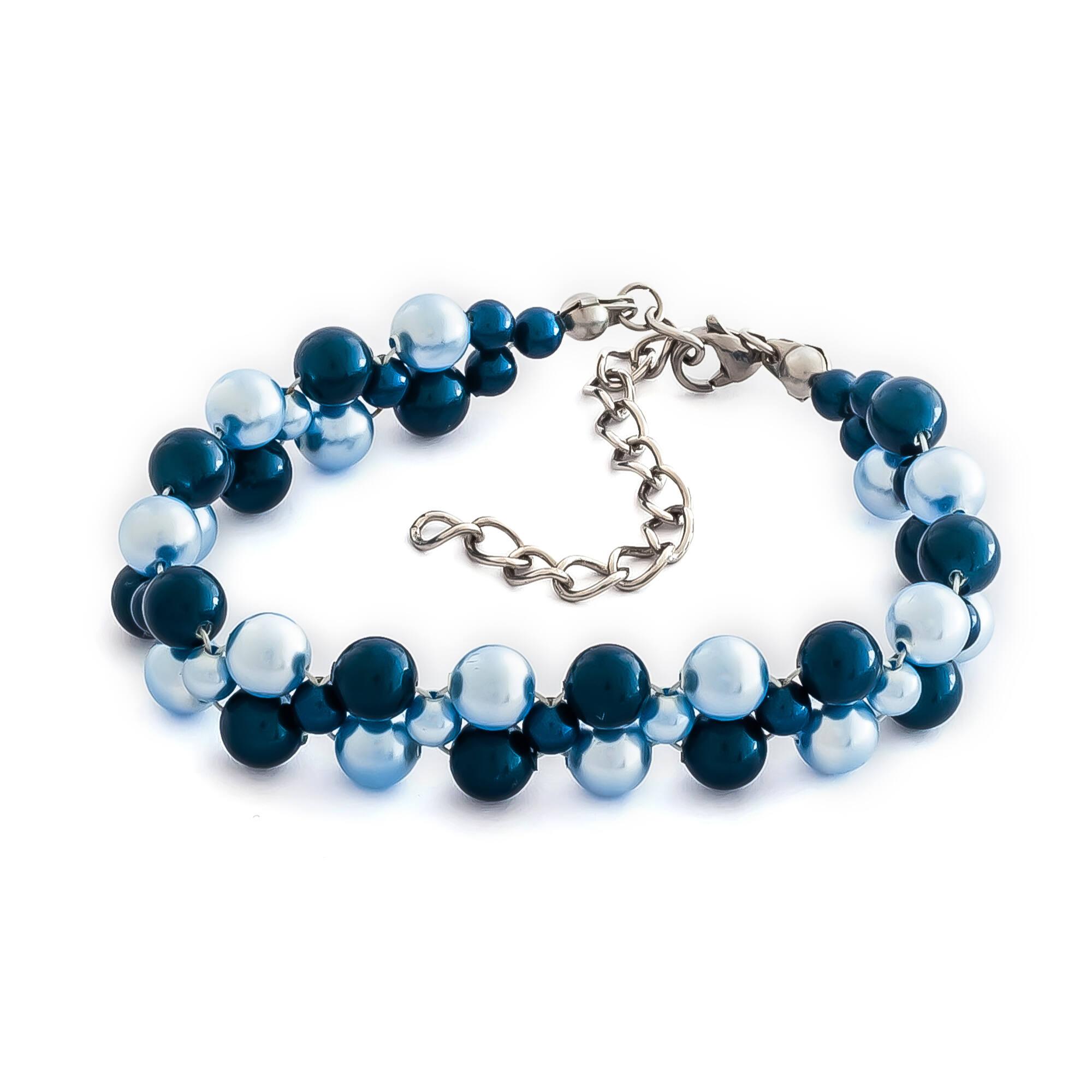 GYÖNGY KARKÖTŐ - dark blue/light blue