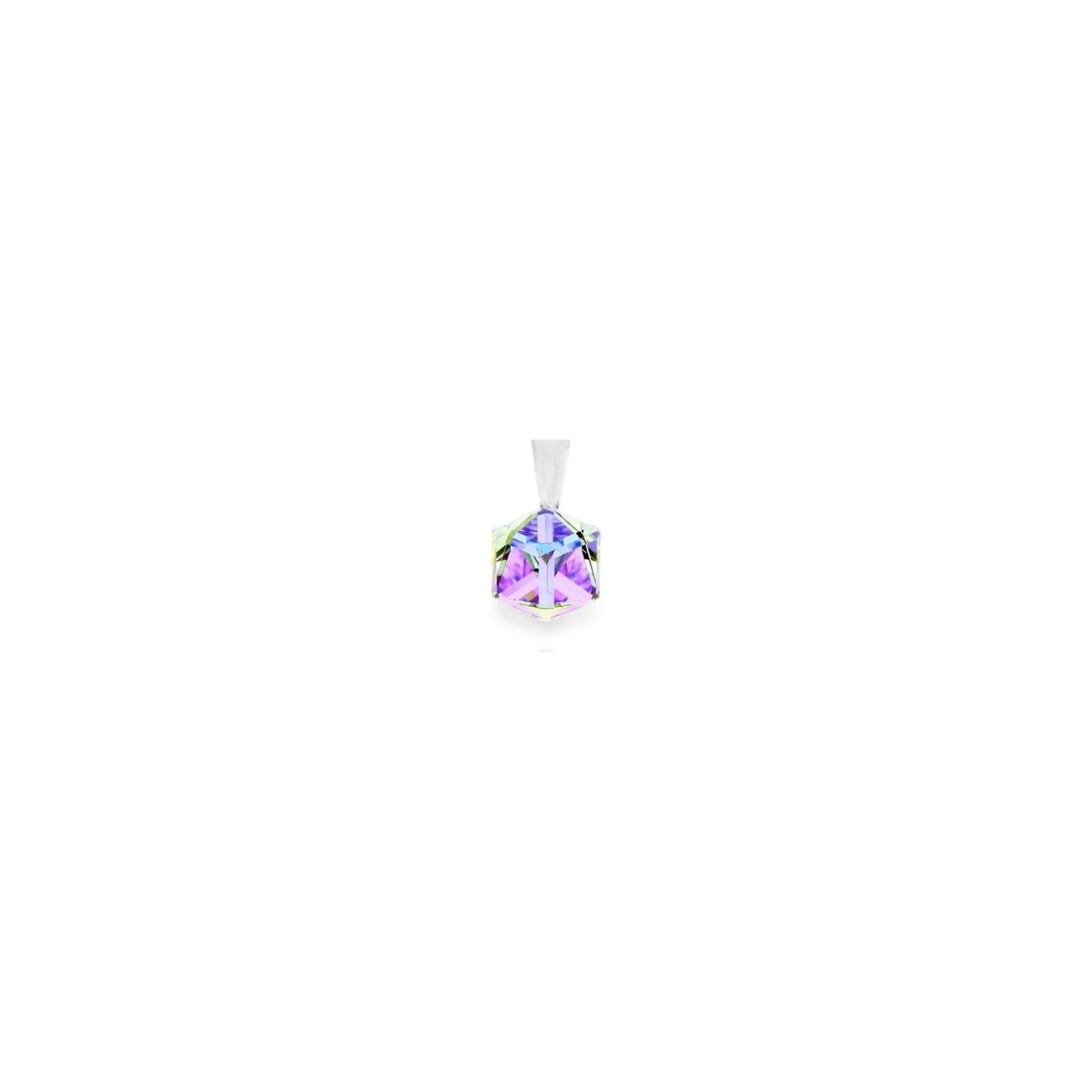KOCKA ALAKÚ MEDÁL - crystal ab