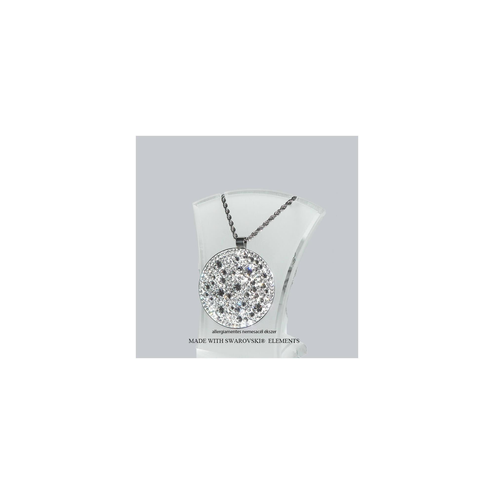 Kör alakú Swarovski medál nyaklánccal