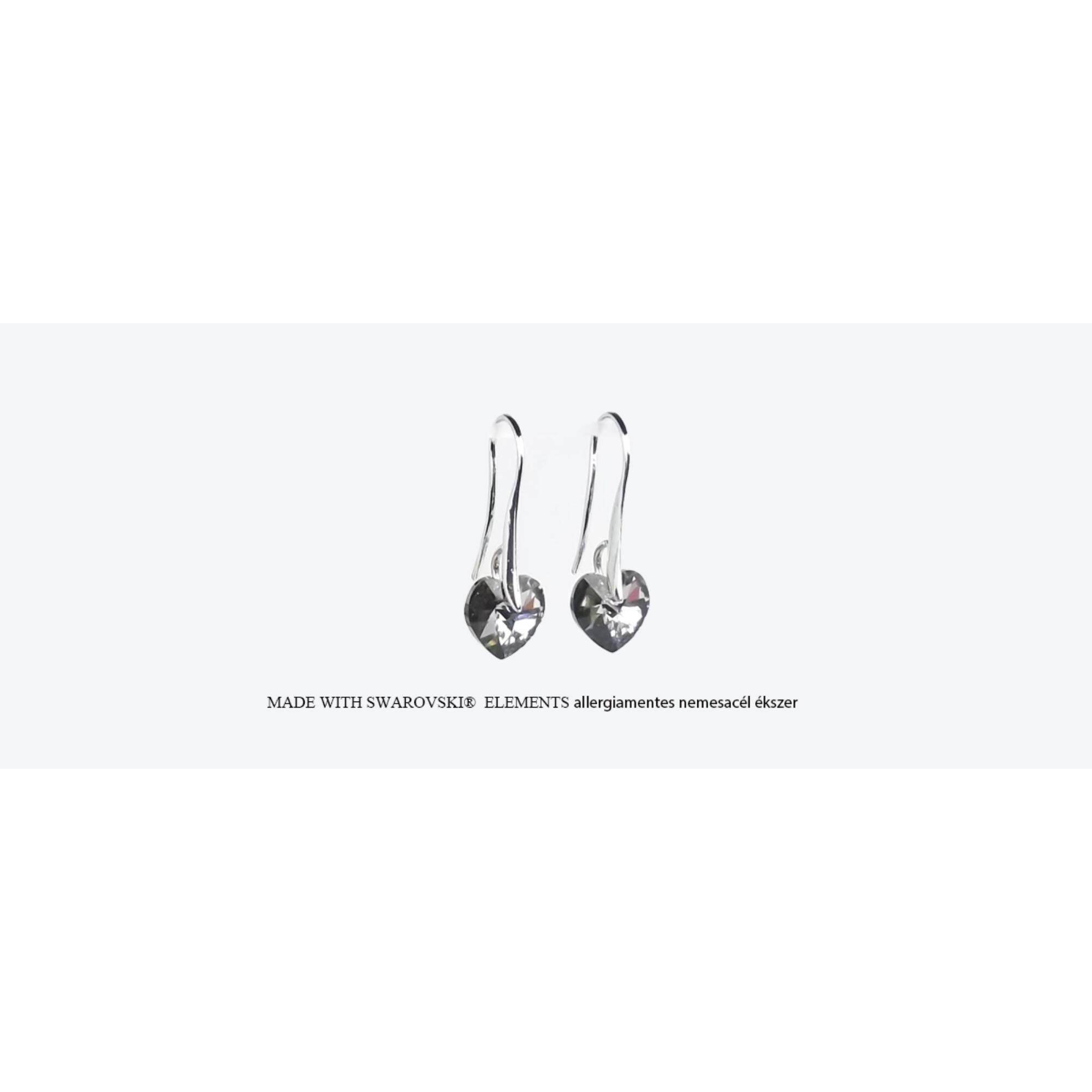 Szív alakú akasztós fülbevaló