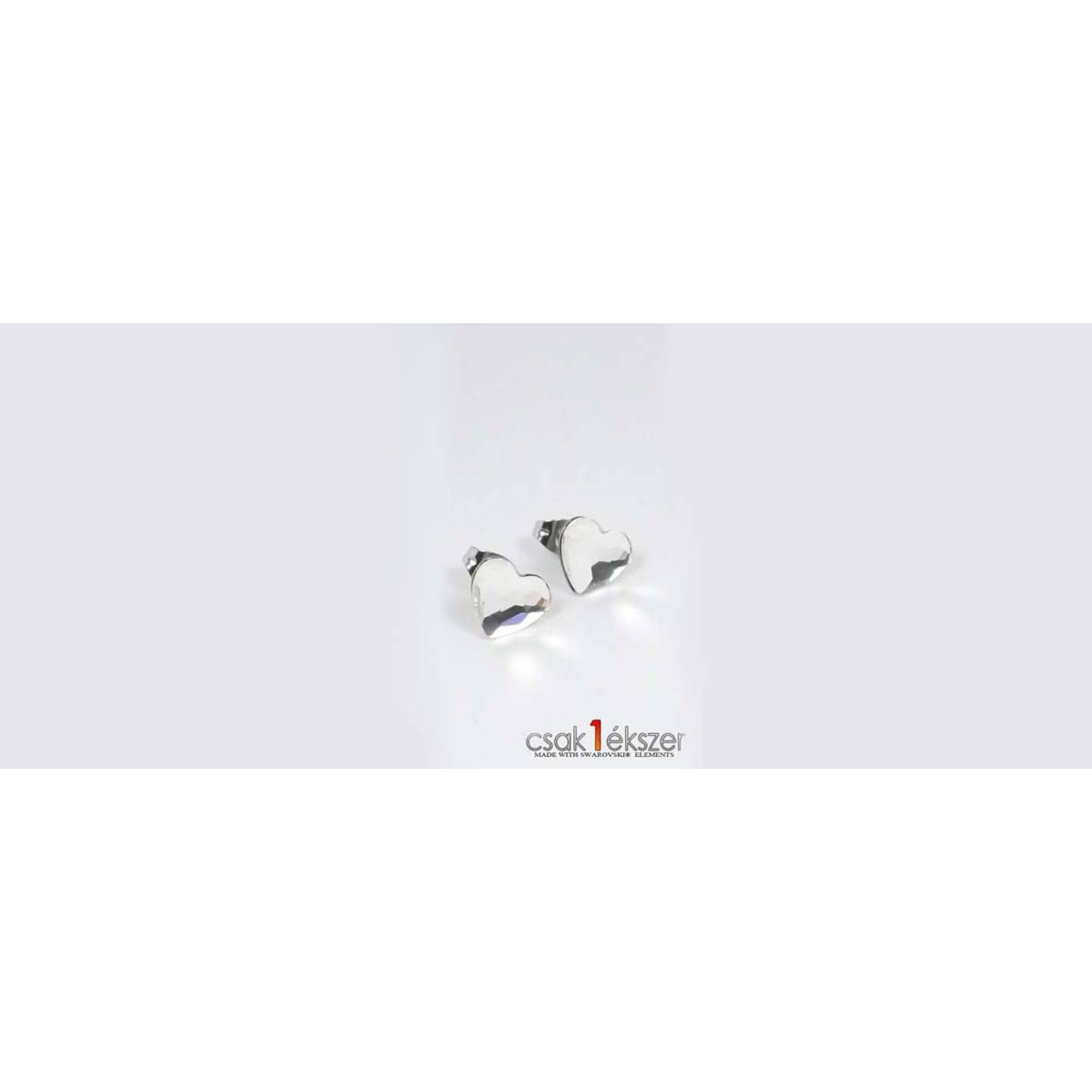 Swarovski szív alakú bedugós fülbevaló