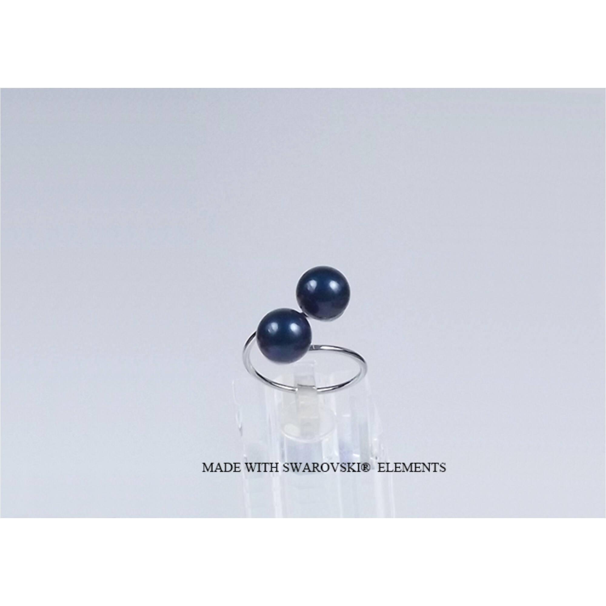 Swarovski gyűrű gyönggyel