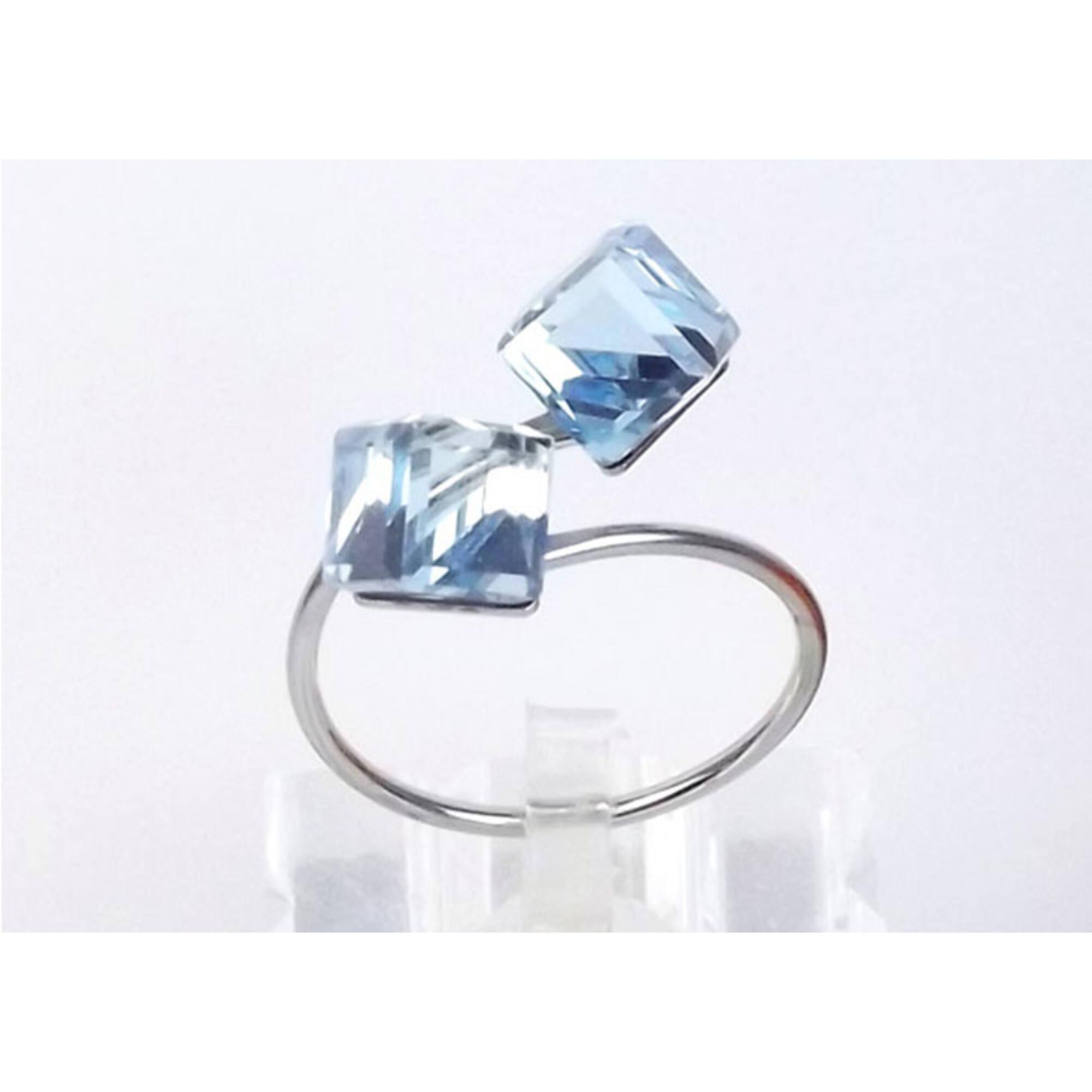 Swarovski dupla kocka gyűrű