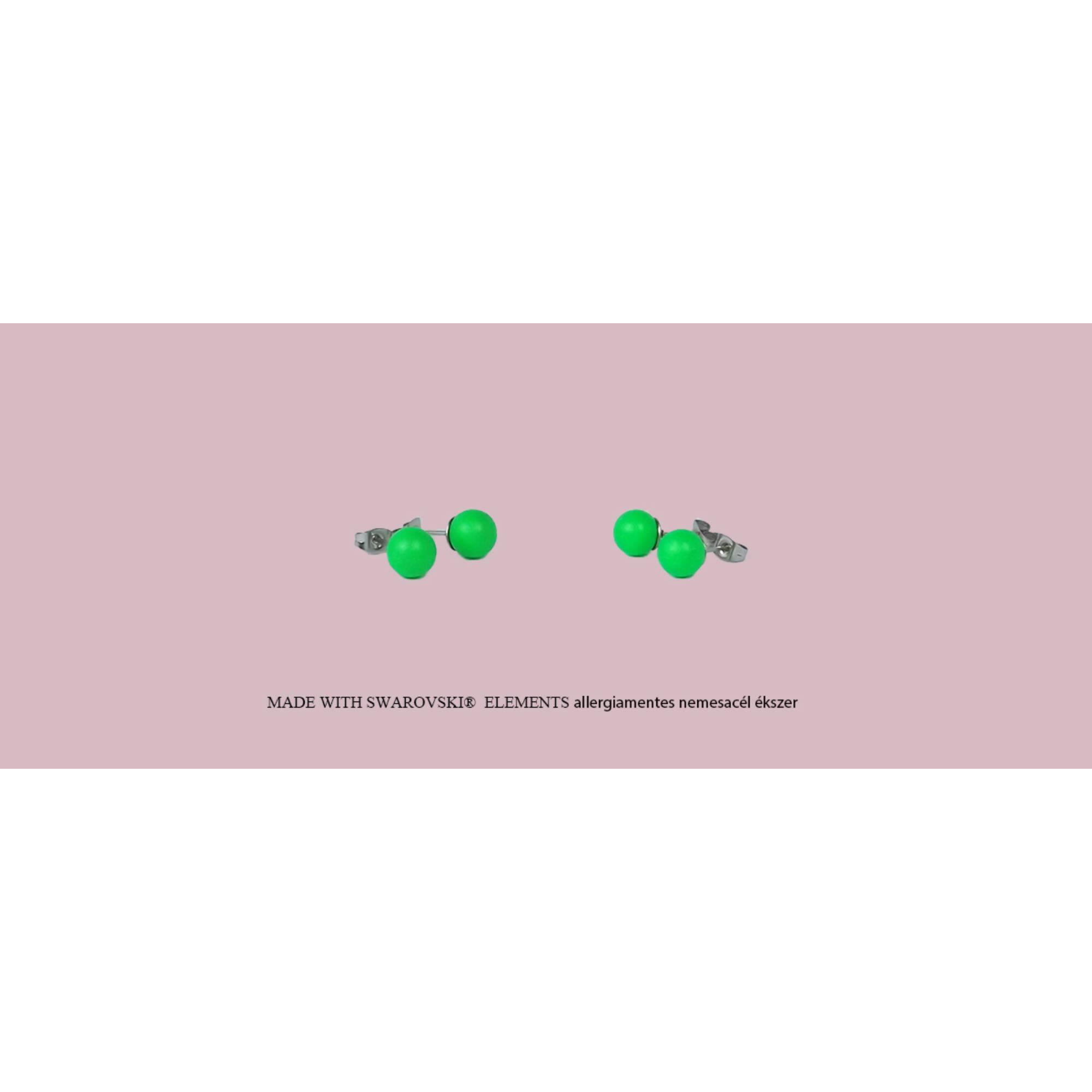 Neon gyöngy fülbevaló