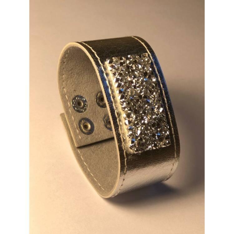 BŐR KARKÖTŐ SZÓRT KRISTÁLLYAL - silver