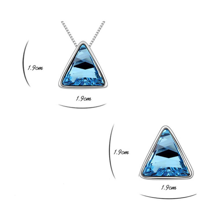 Háromszögek Swarovski kristályos ékszer szett