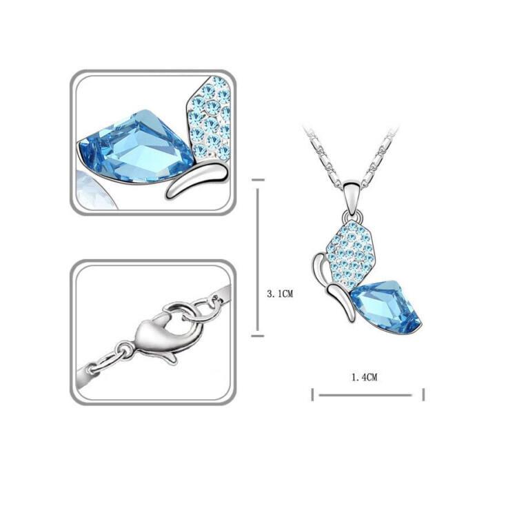 Szárnyalás  kristályos ékszer szett