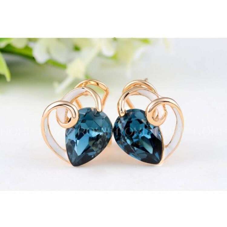 ROXI BLUE DIAMOND FÜLBEVALÓ 18 KARÁTOS ARANY BEVONATTAL