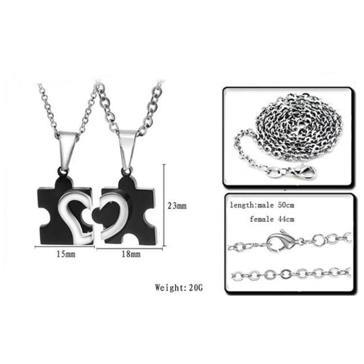 Összetartozás páros acél medál nyaklánccal