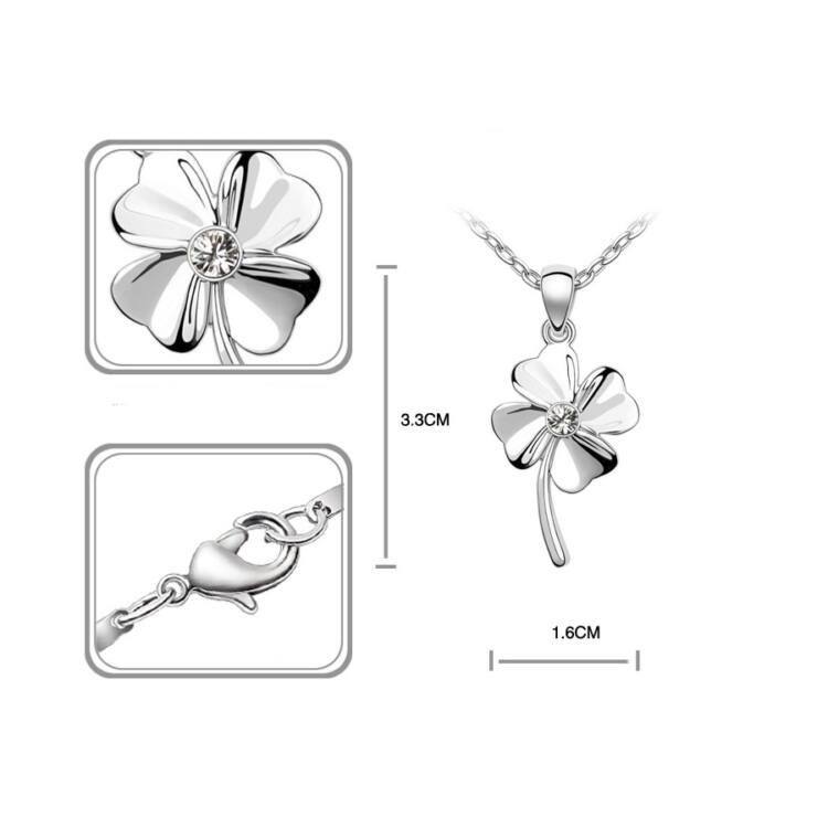Szerencse Swarovski kristályos medál nyaklánccal