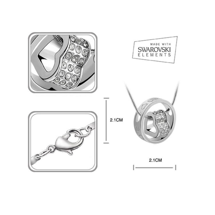 Swarovski szív medál gyűrűvel